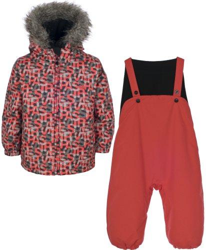 Boys TRESPASS POPPET Red Ski Jacket & Salopettes Pants Snow Suit Set Ages 6-24 Months