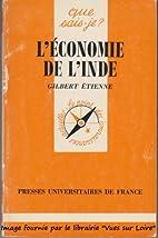 L'économie de l'Inde by Gilbert Etienne