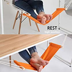 Portable Novelty Mini Office Foot Rest Stand Adjustable Desk Feet Hammock BE