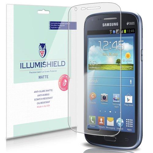 iLLumiShield - Samsung Galaxy Core I8260 Anti-Glare Matte Screen Protector HD Clear Film / Anti-Bubble & Anti-Fingerprint / Premium Invisible Crystal Shield - Free Warranty - [3-Pack] Retail Packaging
