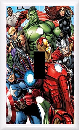 Got You Covered Framed Marvel Avengers Bedding Bathroom Light Switch Cover Plate (1x Toggle) (Got Marvel compare prices)