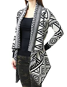 Aztec Navajo Tribal Pattern Soft and Comfortable Cardigan for Women (SMALL/MEDIUM, BEIGE-MY-M1594)