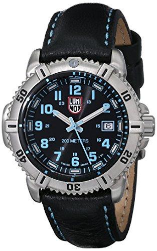 Luminox 7253 38mm Stainless Steel Case Black Leather Anti-Reflective Sapphire Women's Watch