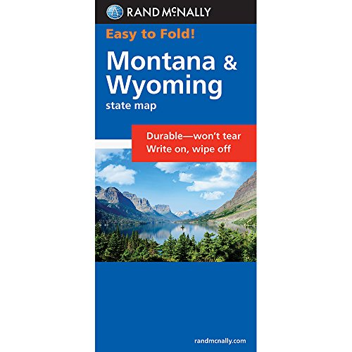 Rand McNally Easy To Fold: Montana, Wyoming (Laminated) (Rand McNally Easyfinder)