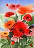 Toland Home Garden  Watercolor Poppies 12.5 x 18-Inch Decorative USA-Produced Garden Flag