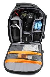 High Quality SLR / DSLR Camera Backpack / Rucksack With Adjustable Padded Interior For Samsung WB1100F
