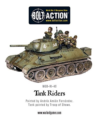 Warlord Games WGB-RI-40, Soviet Army Tank Riders, 28mm Bolt Action Wargaming Miniatures