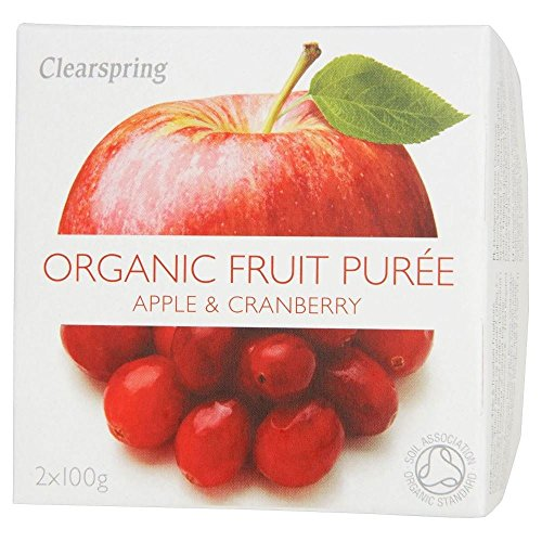 Clearspring Organic Apple & Cranberry Puree (2X100G)