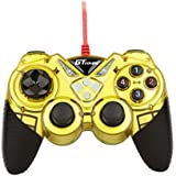 Dual Shock Wired USB Gamepad Controller For PC With Gripped Joysticks Ergonomic Design Vibration Force Feedback... - B00S879B3E