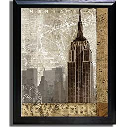 Autumn in New York by Keith Mallett Premium Black-Framed Canvas (Ready to Hang)