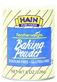 Hain Pure Foods Baking Powder Sodium Free, Gluten Free, 8 Ounce Box