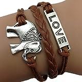 Armband Elefant unendliche Liebe Karma Schokolade Infinity