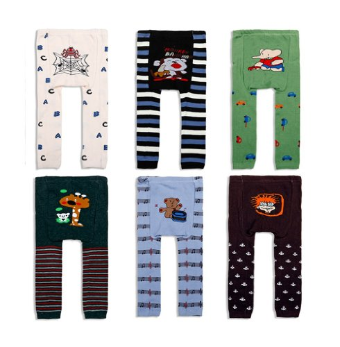 6Pc 0-3T Baby Pants Children Winter Autumn Leggings Tights Legs Toddler Trousers