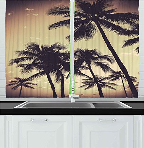 Ambesonne Kitchen Decor Collection, Tropical Palm Trees