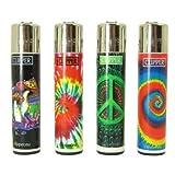 Bundle - 4 Items - Clipper Lighter Tie Dye