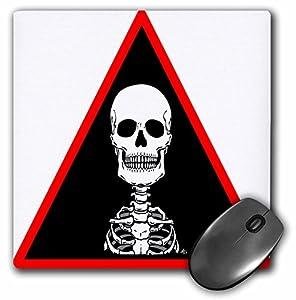 Mark Grace ZOMBIE SURVIVORS Skeletons - SKELETONS skull 2 black triangle - MousePad (mp_25043_1)