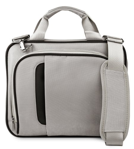 Silver Black Messenger Carrying Bag With Removable Shoulder Strap For Samsung 10.1 Inch Netbook