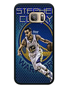 S7 TPU Protective Case with Golden State Warriors Stephen Curry 4 Black for Samsung Galaxy S7 Black TPU Cover