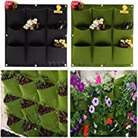 9 Pockets Garden Hanging Planting Bag Vertical Outdoor Indoor Wall Planter Decor - B01J5XI518