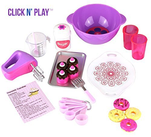 Click-n-Play-Doll-Baking-Set-with-Apron-and-Chef-Hat-Perfect-For-18-inch-American-Girl-Dolls