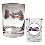 Great American Products Great American MLB Rocks and Square Shot Glass Set