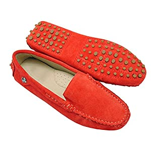 Sellwend Women's Round Toe Loafers Boat Shoes Ballet Flats Loafers Red6.5 B(M) US Active demand
