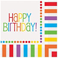 Rainbow Birthday Luncheon Napkins, 16ct