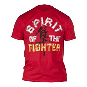 Hayabusa Official MMA Spirit of the Fighter T-Shirts/Tee - Red/Yellow / X-Large