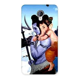 Cute Bholenath And Ganesha Multicolor Back Case Cover for Micromax Unite 2 A106