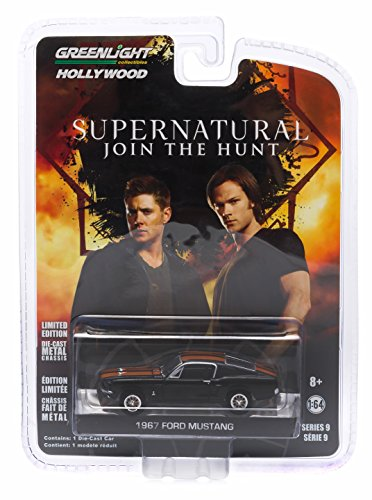1967 CUSTOM FORD MUSTANG from the hit television show SUPERNATURAL * GL Hollywood Series 9 * 2015 Greenlight Collectibles Limited Edition 1:64 Scale Die Cast Vehicle