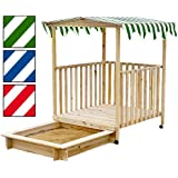 Infantastic® SDKS01 Sandbox / Sandpit with veranda DIFFERENT COLOURS AVAILABLE