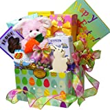 Art of Appreciation Gift Baskets Easter Bunny Chocolate and Candy Care Package Box, Pink or Purple Rabbit Rabbit