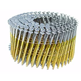 B & C Eagle 314X120HDRC Round Head 3-1/4-Inch by .120-Inch by 15 Degree Wire Collated Hot Dipped Galvanized Ring Shank Mini Coil Nail (2,500 per Box)