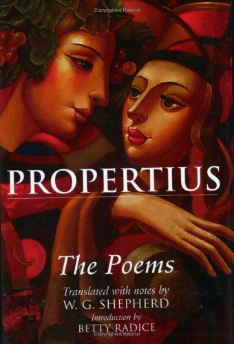 The Poems, Sextus Propertius, William G. Shepherd