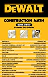 DEWALT Construction Math Quick Check: Extreme Duty Edition - 111112857X