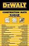 DEWALT� Construction Math Quick Check...