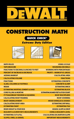 DEWALT Construction Math Quick Check: Extreme Duty Edition Home Coupons