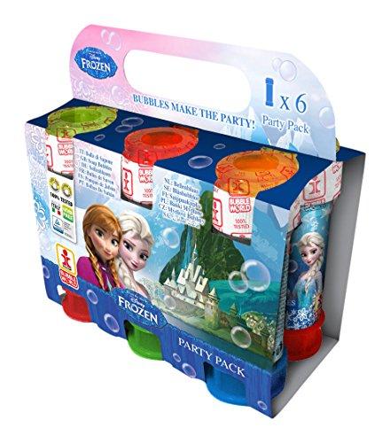 Dulcop - 003656 - Party Pack De 6 Tubes De Bulles De Savons De - La Reine Des Neiges - Frozen - 60 Ml