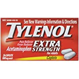 Tylenol Acetaminophen, Extra Strength, 500 mg, Caplets, 24 ct