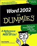 Word 2002 For Dummies (0764508393) by Gookin, Dan