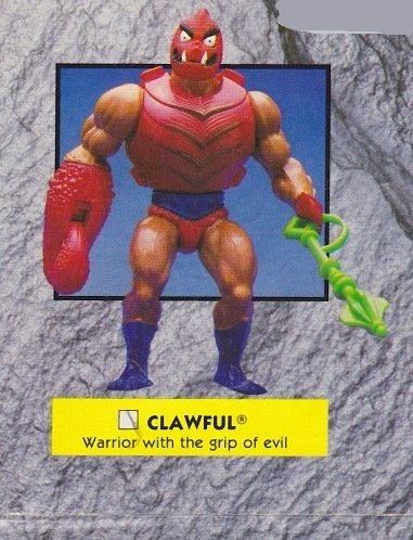 Buy Low Price Mattel Vintage 1980s Master's of the Universe Clawful Action Figure MOTU 100% (B0045RTUF0)