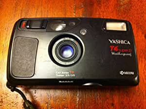 Kyocera Yashica T4 Super Weatherproof Camera with Carl Zeiss Tessar T* 35mm F3.5 Lens and Waistlever Super Scope Viewfinder
