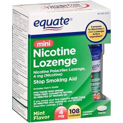 Equate Mini Nicotine Lozenge Mint 4mg 108ct, Compare to Nicorette Mini Lozenge