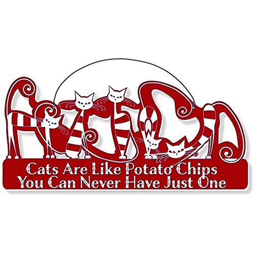 Cool Cats Cat-Gang Shaped Laser-Etched 3-In-1 Plaques Ver2 Like Potato Chips Red front-500056