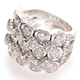 Doris Panos 18k White Gold 4.5 Carat Diamond Ring