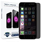 Tech Armor Apple iPhone 6 Premium 2-Way Privacy Ballistic Glass Screen Protector - Protect Your Screen from Scratches and Drops - Maximize Your Resale Value - 99.99% Clarity and Touchscreen Accuracy