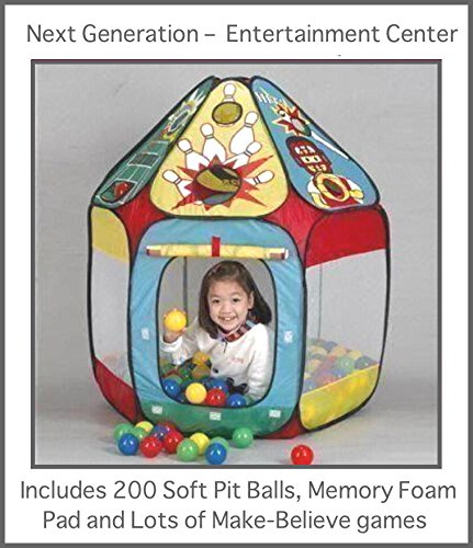 "It'S A Childs Entreatment Center Includes A Pop-Up Fun-Tent, 200 Funsoftballs And A 36"" X 36"" Memory Foam Mat, The Next Generation Phthalate Free Pit Balls Packed Are In A Zipper Tote Bags For Easy Storage. Each Ball Measures 2.4"" (A Little Smaller And So"