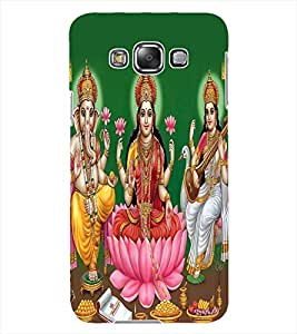 ColourCraft Lords Ganesha Maa Laxmi and Maa Saraswati Design Back Case Cover for SAMSUNG GALAXY GRAND MAX G720