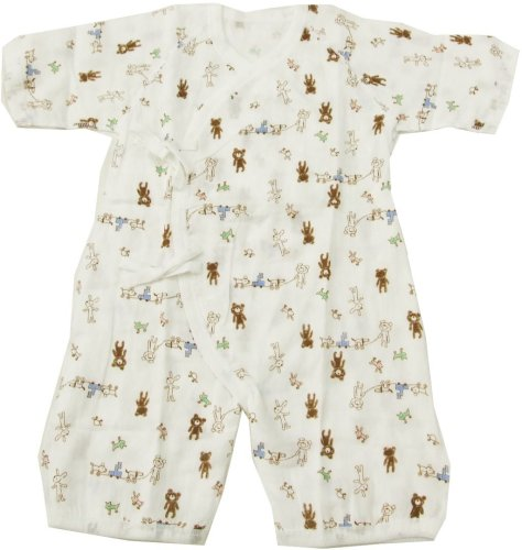 Bear-print Base Layer for Infant Double-cloth Gauze