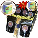 cgb_51730_1 777images Flags and Maps - South America - Map and Flag of Ecuador with Republic of Ecuador printed in both English and Spanish - Coffee Gift Baskets - Coffee Gift Basket